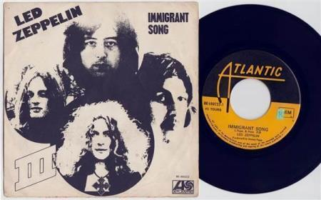 LED ZEPPELIN Immigrant Song 1970 Belgian 7""