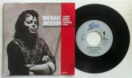 """MICHAEL JACKSON I Just Cant Stop Loving You 1987 Dutch 7"""""""