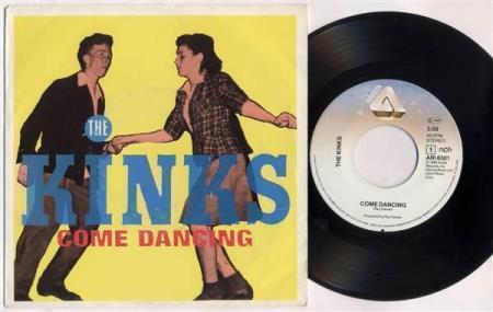 THE KINKS Come Dancing 1982 Scandinavian 7""