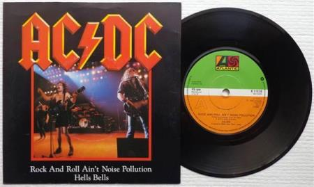 """AC/DC Rock And Roll Aint Noise Pollution 1980 UK 7"""""""