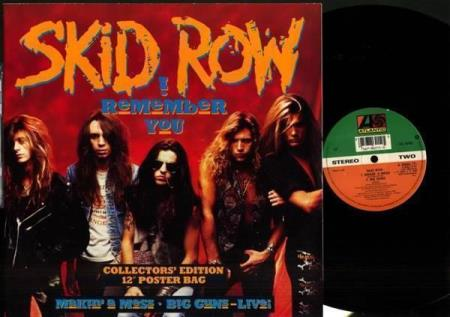 """SKID ROW I Remember You 1990 UK 12"""", POSTER-SLEEVE"""