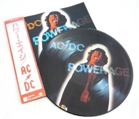 AC/DC Powerage Japan picture-disc LP, with OBI insert