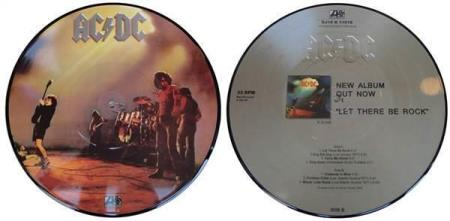 "AC/DC Let There Be Rock limited 10"" picture-disc vinyl EP"