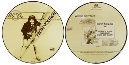 """AC/DC High Voltage limited 10"""" picture-disc vinyl EP"""