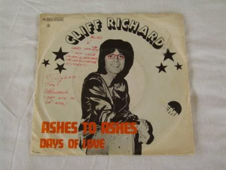 CLIFF RICHARD - ASHES TO ASHES / DAYS OF LOVE