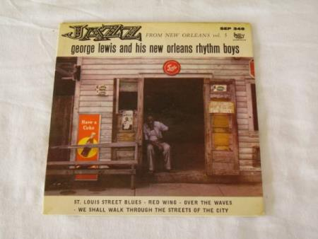 GEORGE LEWIS AND HIS NEW ORLEANS RHYTHM BOYS EP MED 4 NUMRE