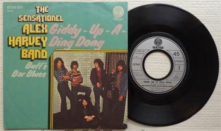 """ALEX HARVEY BAND Giddy Up A Ding Dong German 7"""""""