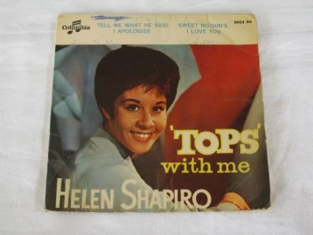 HELEN SHAPIRO - TOPS WITH ME EP MED 4 NUMRE