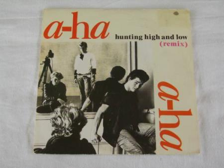 A-HA - HUNTING HIGH AND LOW / THE BLUE SKY  FRANSK TRYK