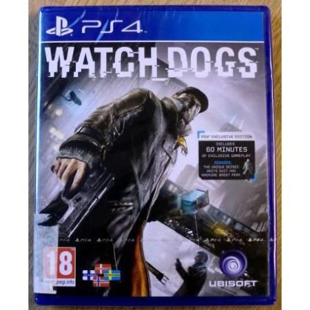 Watch Dogs (Ubisoft) - Playstation 4 - Nytt, forseglet
