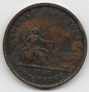 Stor tung Canada/Quebec 1 penny 1852