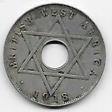 Briish West-Africa 1/2 penny 1918 H