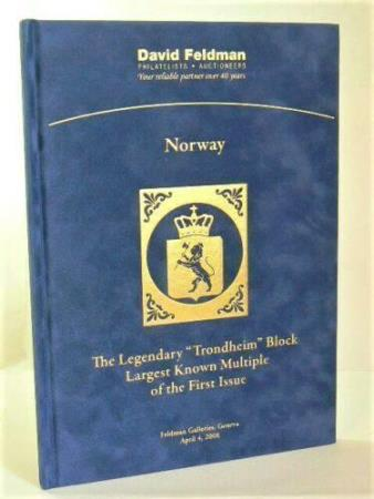 Norge - The Legendary TRONDHEIM Block, 1st Issue.