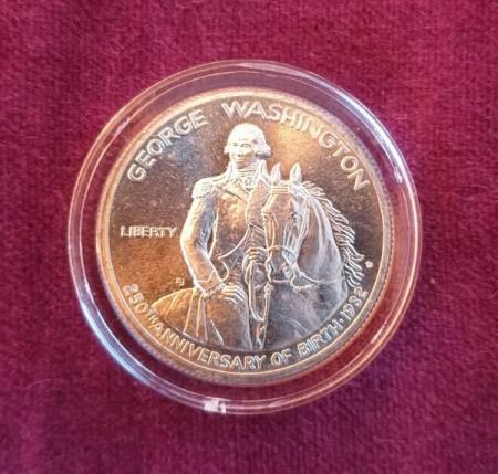 Half Dollar, G Washington 250th anniversary, 1982