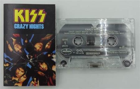 KISS Crazy Nights original 1987 US CASSETTE, plant 72