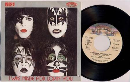 KISS I Was Made For Lovin You / Hard Times Italian 7""