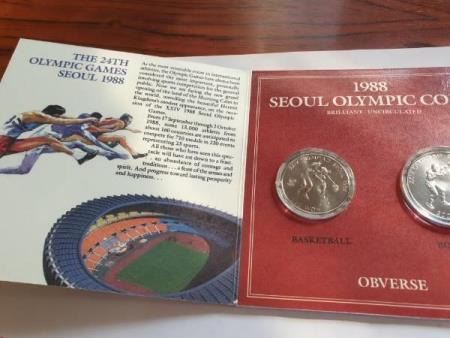 1988 Seoul Olympic coins Brilliant uncirculated Basketball