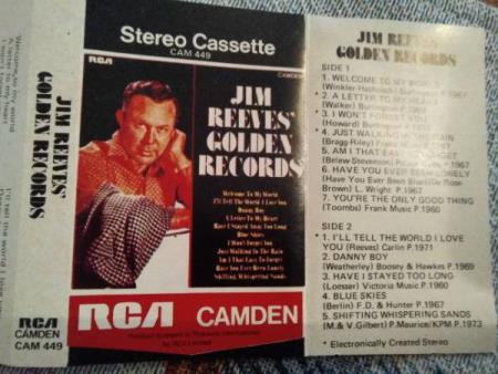 Jim reeves.golden records. 1973.