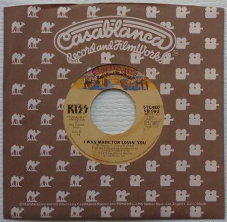 """KISS I Was Made For Lovin You 1979 US 7"""" - press #73"""