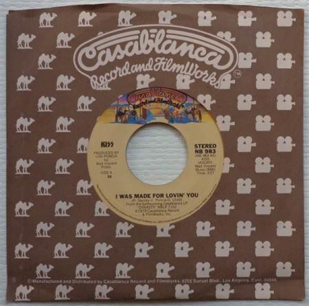 """KISS I Was Made For Lovin You 1979 US 7"""" - press #56"""