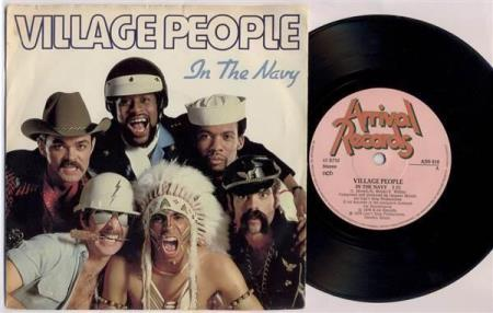 """VILLAGE PEOPLE In The Navy 1979 Swedish 7"""""""