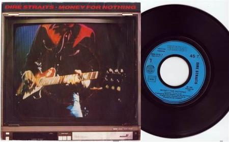 """DIRE STRAITS Money For Nothing 1985 French 7"""""""