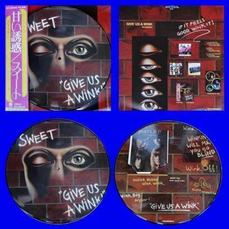 SWEET Give Us A Wink Japan picture-disc LP w/insert