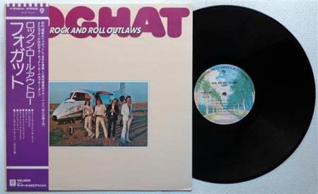 FOGHAT Rock And Roll Outlaws Japan LP w/OBI + insert