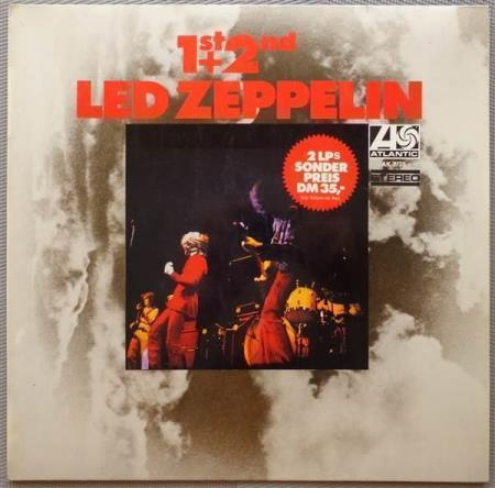 LED ZEPPELIN 1st + 2nd 1970 German compilation 2-LP