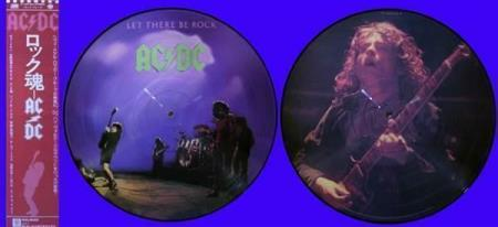 AC/DC Let There Be Rock Japan picture-disc LP, with OBI