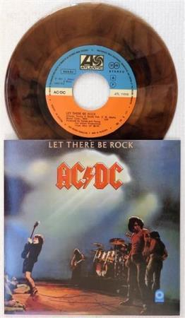 """AC/DC Let There Be Rock Yugoslavian 7"""" - BROWN WAX"""