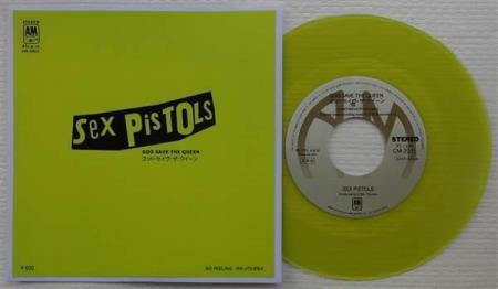 "SEX PISTOLS God Save The Queen Japan 7"", YELLOW WAX"