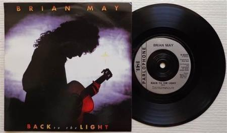 "BRIAN MAY Back To The Light 1992 UK 7"", solo QUEEN"