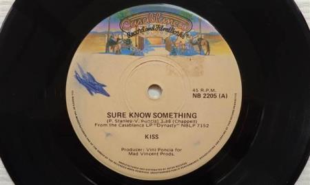 KISS Sure Know Something 1979 Australian 7""