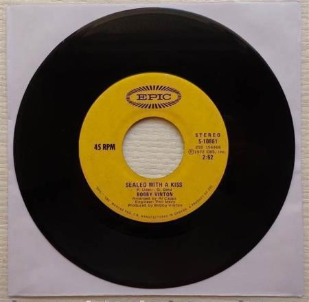 """BOBBY VINTON Sealed With A Kiss 1972 Canadian 7"""""""