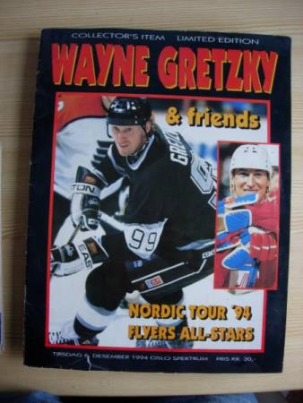 Program for Wayne Gretzky and friends Nordic Tour 94