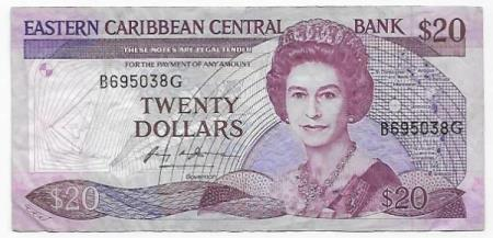 East Carribean States 20 $ ND (1987-88)