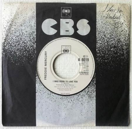 FREDDIE MERCURY / QUEEN I Was Born To Love You UK 7""