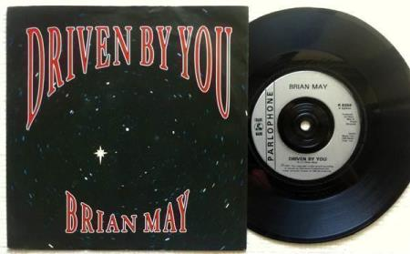 """BRIAN MAY Driven By You UK 7"""", VERS. 2 - solo QUEEN"""