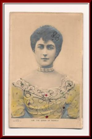 ★★ DRONNING MAUD. PREGET. H. M. The QUEEN of NORWAY ★★