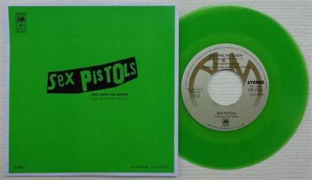 """SEX PISTOLS God Save The Queen Japan 7"""", GREEN WAX"""