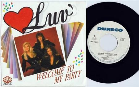 """LUV Welcome To My Party 1989 Dutch 7"""""""