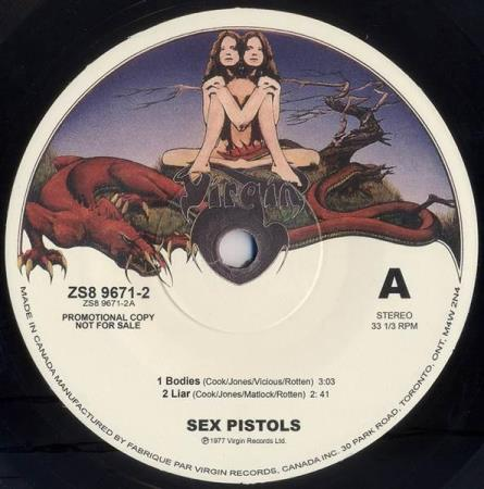 SEX PISTOLS Bodies 2000s Canadian promotional 7""