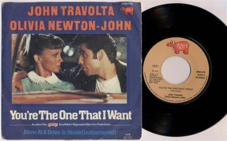 OLIVIA & TRAVOLTA Youre The One That I Want 78 Norway 7""