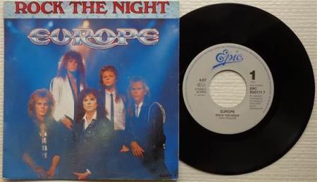 EUROPE Rock The Night 1986 Scandinavian 7""