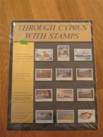 Kypros: Gavsett: ** Through Cyprus with stamps
