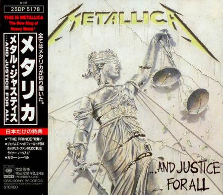 Metallica - And Justice For All - CD Japansk 1s Press