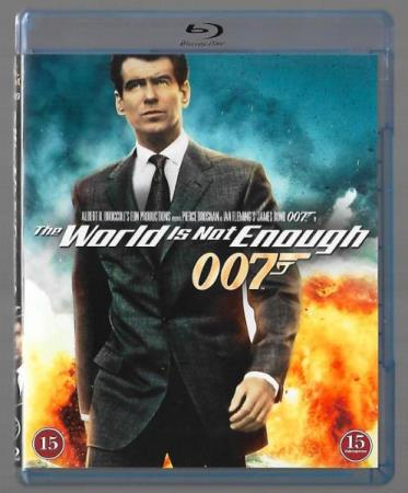 THE WORLD IS NOT ENOUGH - PIERCE BROSNAN - NY BLU-RAY FILM!