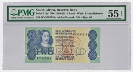 1989-90 South Africa Reserve Bank 2 Rand