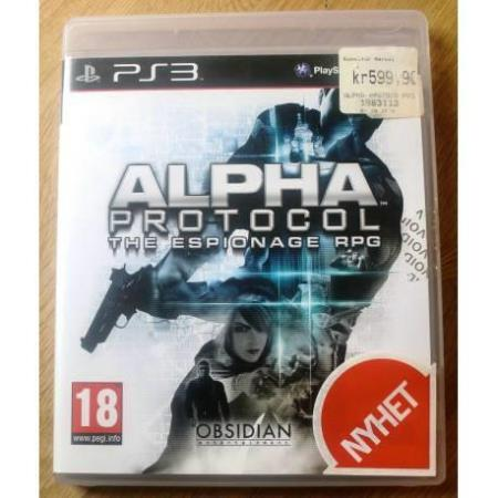 Alpha Protocol: The Espionage RPG (Obsidian) - PS3